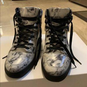 Balenciaga women high top marble sneakers